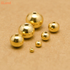 Online wholesale Multi sizes round ball charm spacer with holes gold plated sterling silver beads for DIY Jewelry making