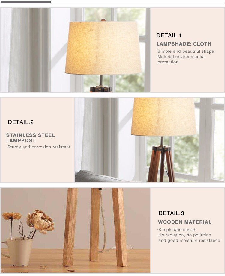 Luminaires Zhongshan Tiffany Cordless Home Acrylic Standing Tripod LED Floor Lamps for Living Room