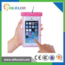 ISO9001 factory style color variety waterproof cell phone bag,mobile phone waterproof bag,waterproof case bag