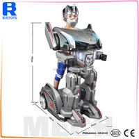 2017 New amazing knight ride robot children car radio control ride on car toys which made in shantou chenghai toy