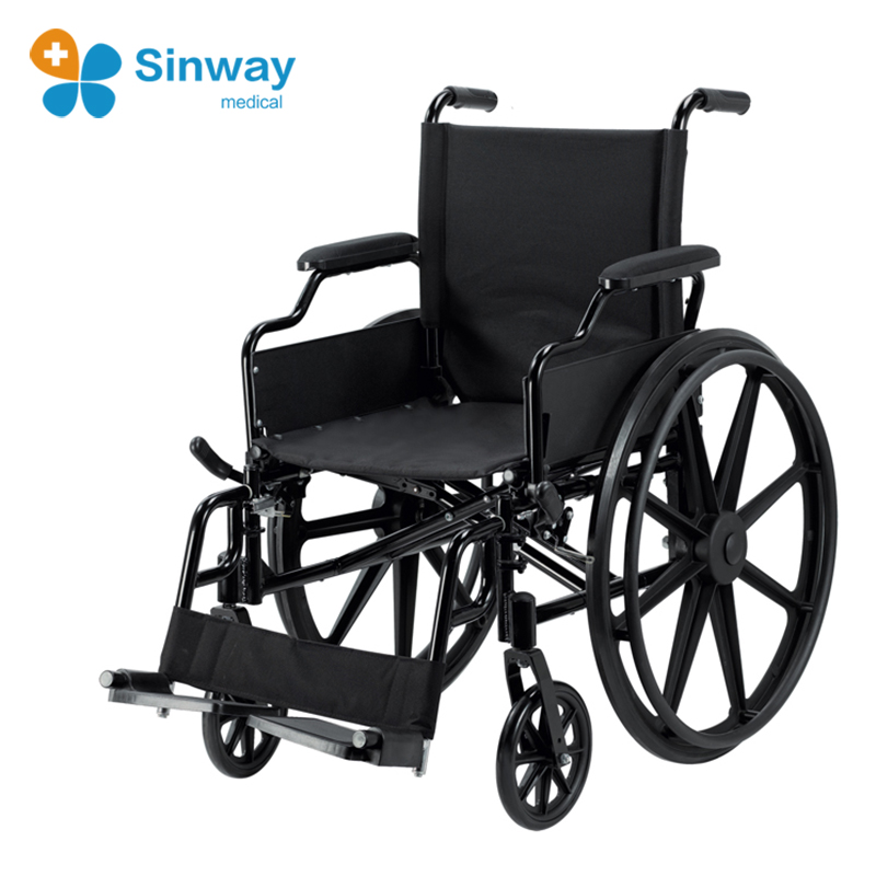 Deluxe Light Weight Aluminum foldable Wheelchair