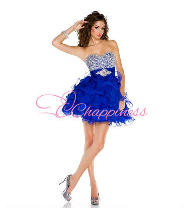 royal blue beaded sexy dresses cocktail dress vintage dresses