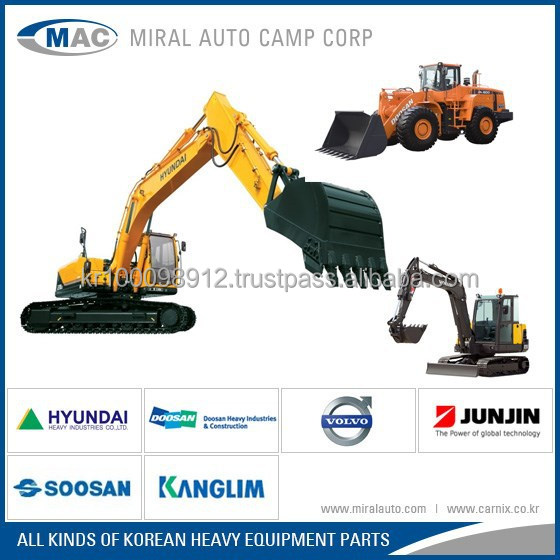 All kinds of Korean spare parts for Heavy Equipments