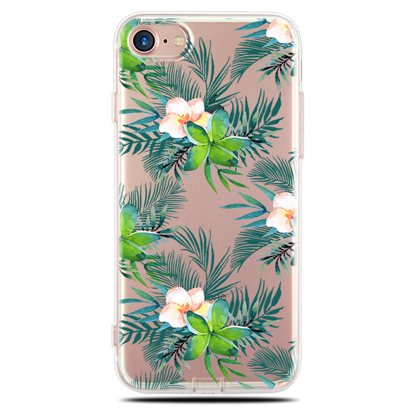 OEM Colorful fresh flower ultra thin clear soft TPU case for iphone 6