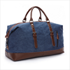 High quality custom mens waxed canvas leather travel duffel bag for travel