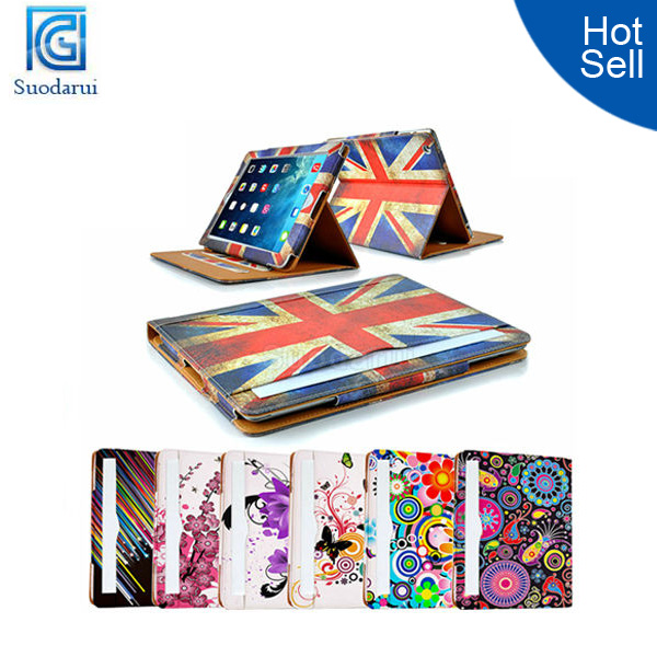 Floral with sleep Magnetic sleep wake sensor leather case cover for ipad air case for ipad 5