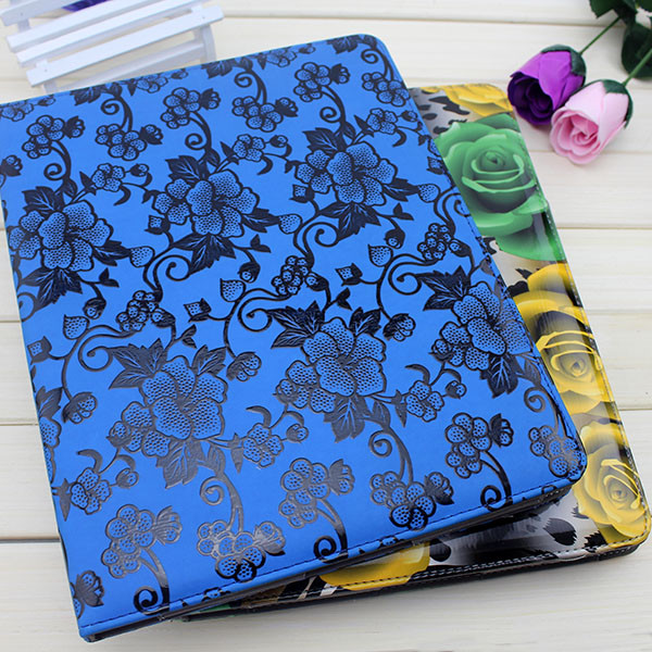 Colorful flip leather replacement back case cover for ipad 2