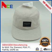 New Design Cheap Cap Flat Embroidery Cotton 5 Panel Camper Hat