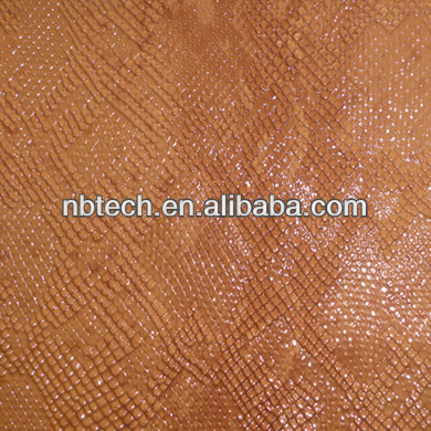 snake skin leather,shine surface,bag leather