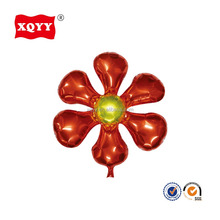 wholesale good quality red flower six petals flower helium balloon