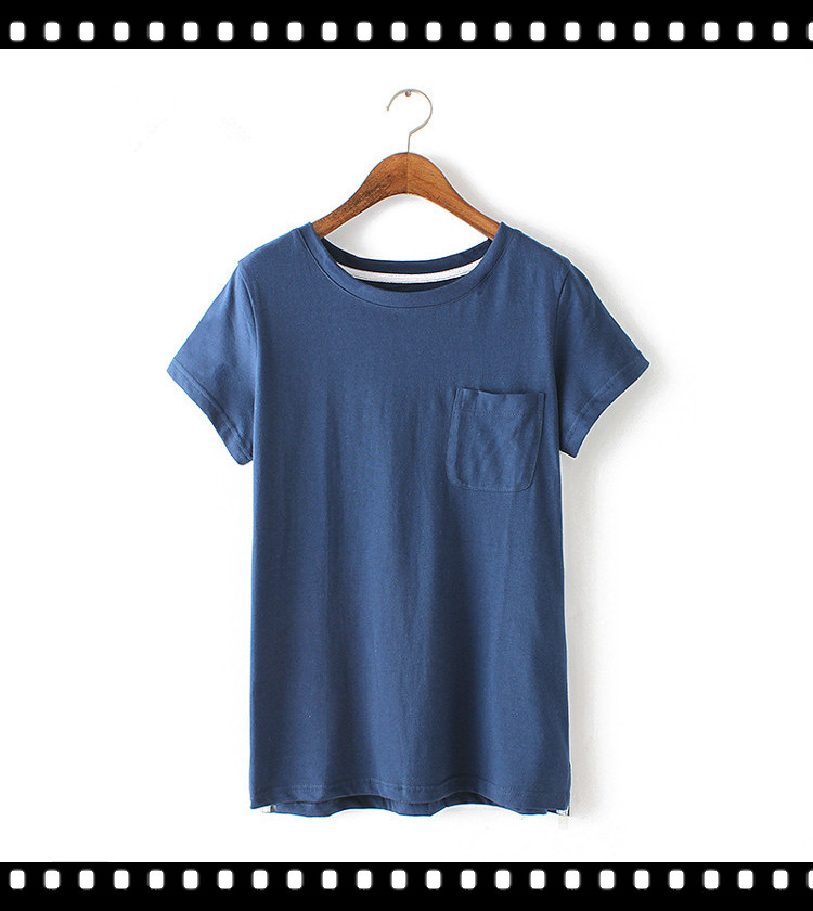 Best cheap no logo ladies t shirt wide neck with pocket for Best inexpensive t shirts