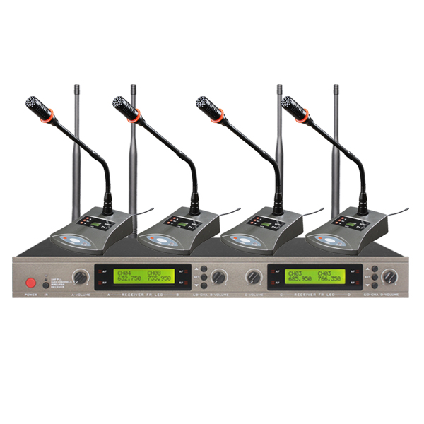 wireless conference microphone with usb receiver for teaching and multi-media classroom