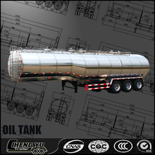 3 axles high quality aluminum/alloy tank trailer transport crude/petrol/diesel/fuel