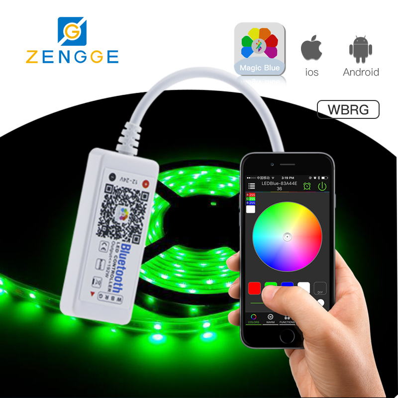 Free APP!new products in the market led rope lighting+ 44key controller +12v 5a power adaptor for led strip rgb