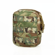 Combat military CP small mini drawstring bag tactical knife pouch for hunting airsoft Rifle