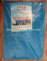 2.4m x 4.8m 150gsm Heavy Duty Blue/White pe poly tarps/HDPE fabric