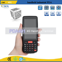 IP65 4G LTE quad core android 1D/2D barcode scanner pda specification PDA401