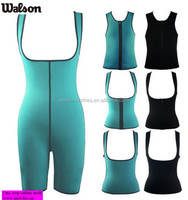 Walson full body waist trainer made of SBR thermo neoprene ultra more sweat for women sport and perfect full body shaper