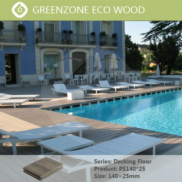 swimming pool and garden and balcony outdoor waterproof solid wpc decking