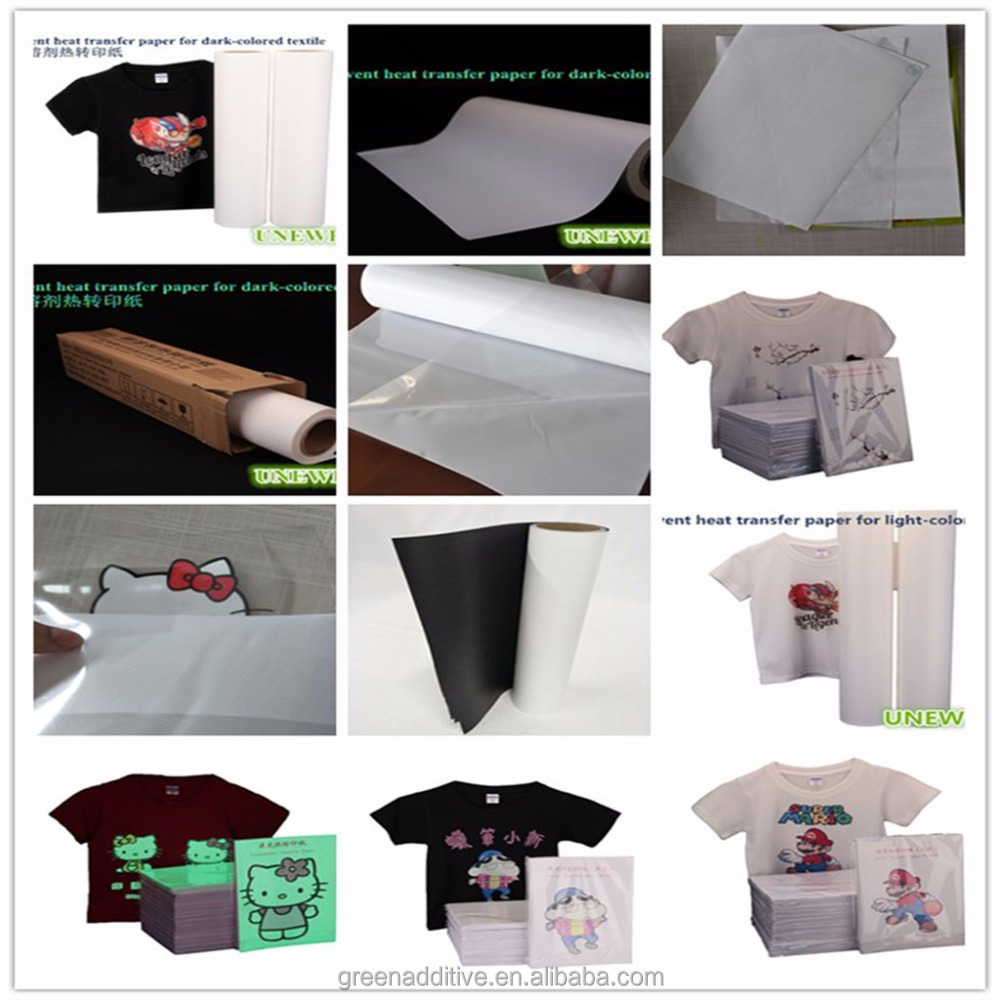 A4 size unewprint dark no cut printing inkjet heat transfer paper for cotton fabric tshirt mouse pads cushions