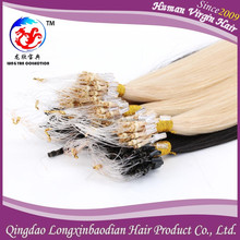 2016 LXBD Invisible Easy AAAAA+ Italian Keratin Glue Flexible European Micro Ring virgin hair extension