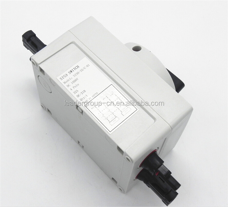 dc isolator switches IP66 4 pole 63A DC1000V Isolator Switch with SAA TUV