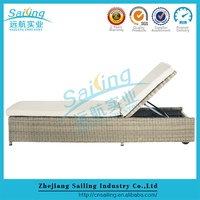 Sailing Sgs Tested Uv-Resistant Outdoor Adult Antique Canopy Wicker Bed