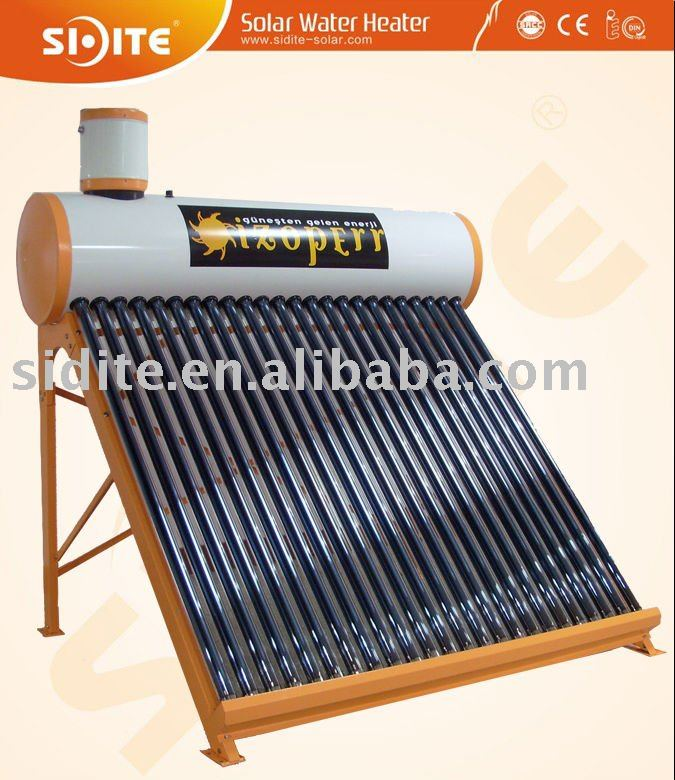 Solar Water Heater with Copper Coil 58 to 1800mm Vacuum Tube and 25mm Hail Resistance