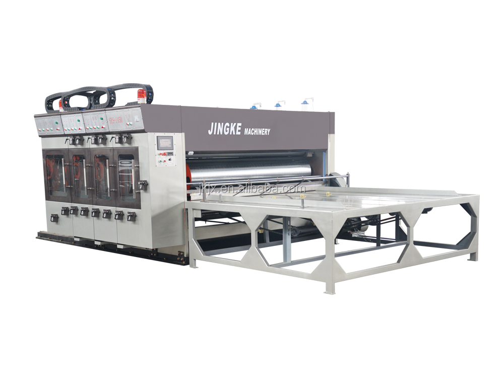 JINGKE-C FIVE-COLOR PRINTER SLOTTER DIE CUTTER MACHINE(LEAD FEEDER)151st
