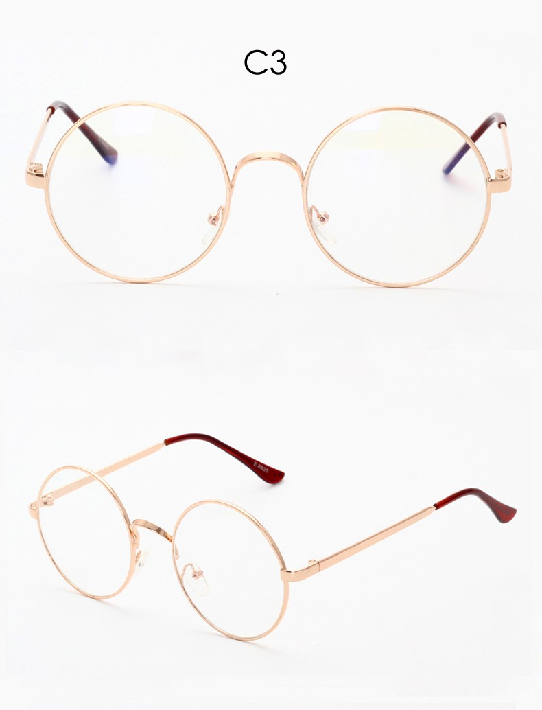 Retro Round Metal Clear Lens Eyeglasses Frame Women Optical Glasses Frame Nerd Eye Glasses Frames for Women Eyewear Man CC5071