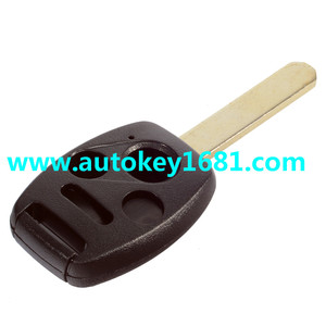 MS car key cover for honda civic accord pilot 3+1 button remote control key shell replcament case uncut blade