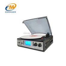 Best Used Mini Smart LP Vinyl To Digital Turntable Media Record Player Phonograph With Radio Cassette