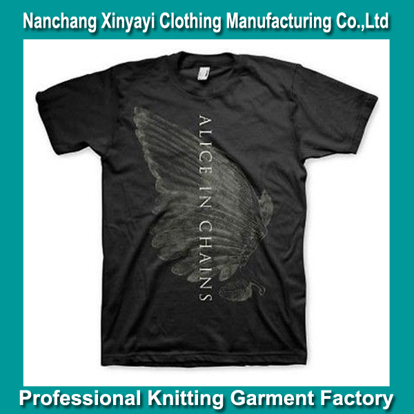 Heavy Metal T Shirts Clothes Men Made in China Supplier Cheap Price American Apparel