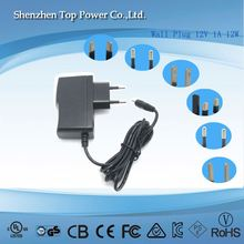 portable interchangeable 15v 14.5v ac dc adapter 12v 700ma 500ma 1a switching power supply adapter