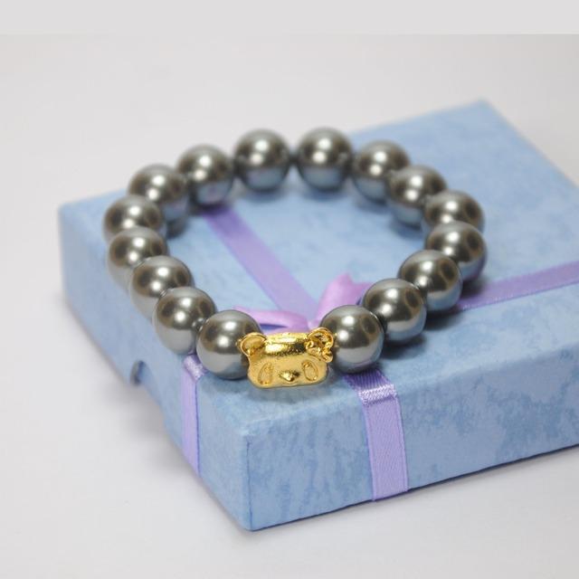 2016 New Arrival Classic Eiffel Tower panda Pearl Multi Color Glass Beads Pendants Bracelets & Bangles For Men/Women