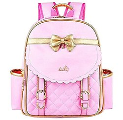 Richmilan----2017 Children School Backpack Bags for Girls Students PU Leather bags Kids Backpack
