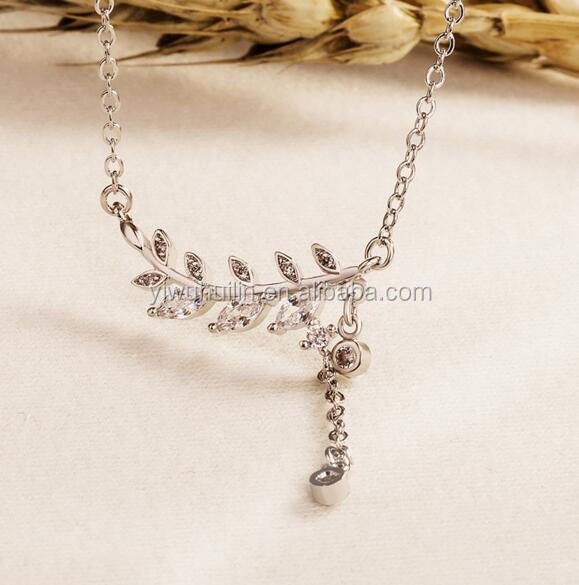YFY137 Yiwu Huilin Jewelry New fashion necklace leaf necklace women necklaces