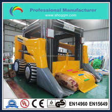 2015 New design bulldozer theme inflatable castle,hot sale inflatable bulldozer bouncer