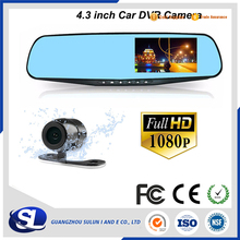 Car Dash Camera Dual Cam Vehicle Front Rear DVR Lens Recorder HD Video 1080p manual car hd dvr car cam