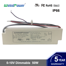 UL cUL FCC IP65 waterproof constant current dimmable 42W 45W 50W led driver