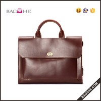 fashion style business genuine leather bag , pure leather bags , briefcase