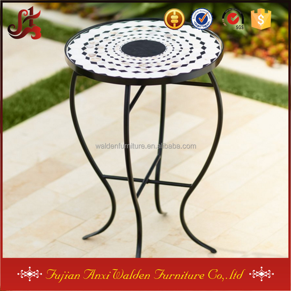 Wrought Iron Flower Pot Table Mosaic Planter Stands