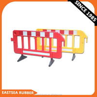 Orange & Yellow Plastic Temporary Driveway Fence Barrier