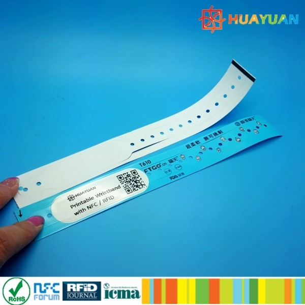 One Time Use custom chip NTAG213 paper bracelet for event