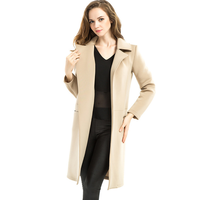W71092G 2015 elegant maxi woman winter long coat made in wool from china in camel