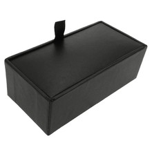 Black Paper Cufflink Storage Boxes Cases