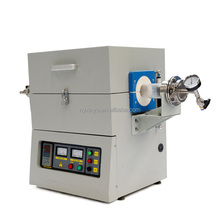 Desktop split 1200 Celsius electric vacuum tube furnace for lab sintering and quenching.