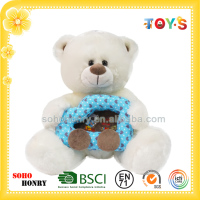 custom stuffed animal picture frame plush animal toy white bear series