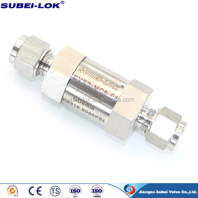 "stainless steel ss 316 spring loaded ball check valve 1/8"" 1/4"" 3/8"" 1/2"" 3/4"" male female NPT compressor check valve"