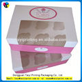 Custom nice price cupcake box whit window